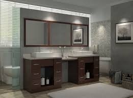Ace Roosevelt 97 inch Double Sink Bathroom Vanity Set in Walnut Finish