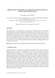 (PDF) <b>Peristaltic</b> transport of a Bingham fluid in contact with a ...