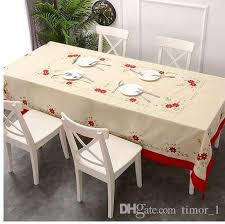 tablecloth big size embroidered table cloth rectangle 70 108 inches 175 265cm table linens round vinyl tablecloths from timor 1
