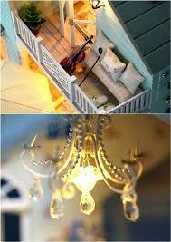 how to make a miniature chandelier dollhouse