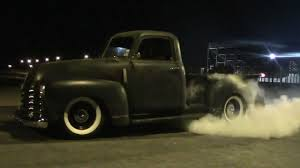 1949 CHEVY TRUCK 3100 BURNOUT - YouTube