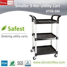 dtsb 300 3 shelf small utility cart manufacturer 1000