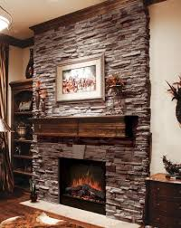 Dry Stack Stone Veneer Fireplace  Traditional  Living Room Stacked Stone Veneer Fireplace