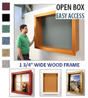 Large Open Wall Shadow Boxes | Empty Open Large Shadow Boxes with Cork  Board Display Cases