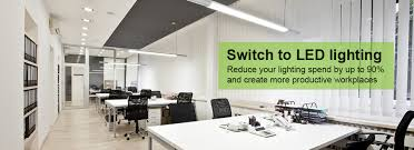 lighting for office. design supply and installation of led lighting solutions for office