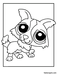 Small Picture Printable Puppy Pictures Coloring Coloring Pages