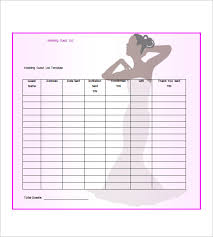 Wedding Guest List Template Excel Download Wedding Guest List Template 10 Free Word Excel Pdf
