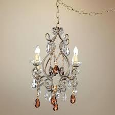 plug in chandelier amber gold finish swag plug in chandelier plug in chandelier lighting plug in chandelier
