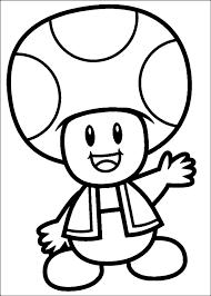 Disegno Di Toad Il Fungo Di Super Mario Da Colorare
