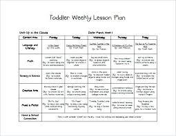 Lesson Plan Printable Template Toddler Spring Lesson Plan Template Free Printable Teacher Common