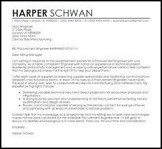 Technical Offer Sample Procurement Engineer Cover Letter Sample Cover Letter