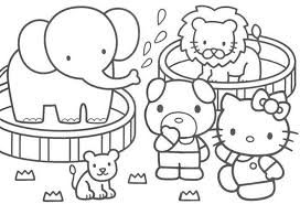 Coloring Pages For Kids Animal Train