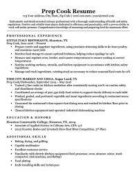 Restaurant Cook Resume Prep Cook Resume Sample Writing Tips Resume Companion