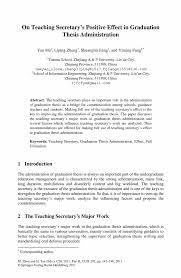 thesis sample thesis pages the graduate college at the