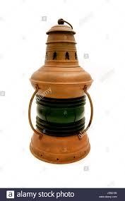 Old Oil Light Brass Lantern Shiner Light Lamp Luminary Old Oil Light Glass