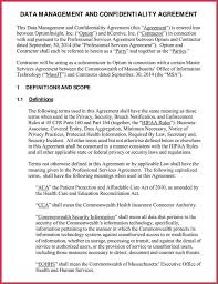 9 free data confidentiality agreement