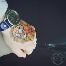временная тату лев
