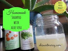 homemade shampoo with aloe vera