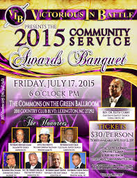 annual vib victorious in battle community service awards vib awards banquet flyer 1