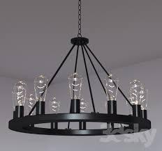 lacey wide round black chandelier