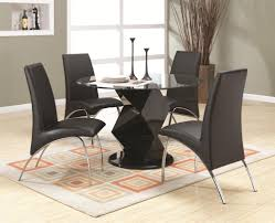dining room great concept glass dining table. Coaster Ophelia Contemporary Five Piece Dining Set With Round Glass Top Table | Michael\u0027s Furniture Warehouse 5 Sets Room Great Concept H