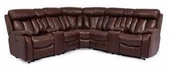 picture of whiskey leather power sectional