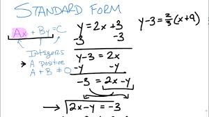 writing equations in ax by c form