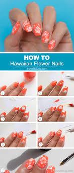 Hawaiian Flower Nail Art Tutorial | Hawaiian nail art, Art ...