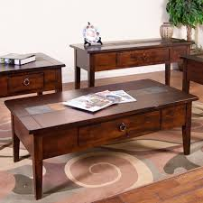 Sunny Designs Furniture Santa Fe Collection Sunny Designs Santa Fe Coffee Table With Slate Tiles And