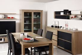 dining room cabinet. Furniture For Dining Room With Modern Buffet Table Glass Cabinet Storage Wooden Black Leather Chair Small Lcd Led Tv