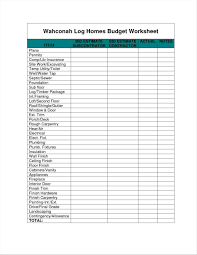 Home Budget Worksheet Home Construction Budget Worksheet EXLtemplates 3