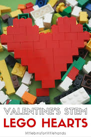 lego hearts stem activity valentine s day engineering project