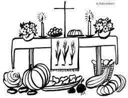 Tafel Van 2 Kleurplaat Erntedankfest Am Sonntag Den Evangelisch