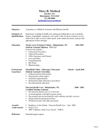Ideas Collection Cover Letter For Resume Medical Assistant Examples