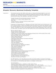 Business Continuity Checklist Plan Examples Of Plans Small And