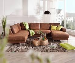 Couch Silas Braun Antik Optik 300x200 Cm Ottomane Links Designer Wohnlandschaft