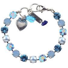 mariana periwinkle bracelet silver blue swarovksi 8 4252