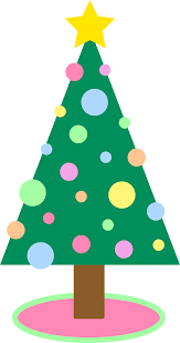 Holiday Christmas Tree in Pastel Colors
