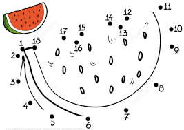 Small Picture Watermelon dot to dot Free Printable Coloring Pages