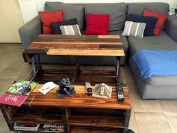 DIY Solid Pallet Coffee Table With Wheels  101 PalletsPallet Coffee Table On Wheels