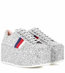 gucci shoes. glitter platform sneakers | gucci shoes