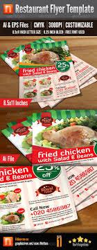 17 best images about print templates fonts flyer restaurant flyer template v1