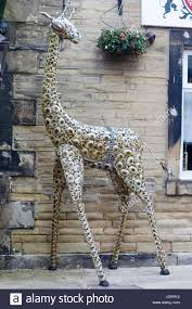 garden ornaments giant metal giraffe sculpture