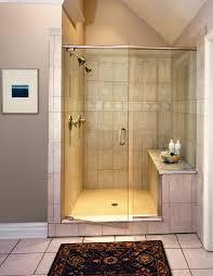 folding bathroom shower door with nickel frame
