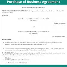 Business Purchase Agreement Free Form Us Of Sample : Mughals