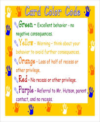 Color Behavior Chart Printable Sample Printable Behavior Chart 9 Examples In Word Pdf