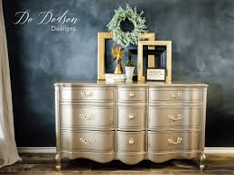 painted furniture makeover gold metallic. Warm Silver Metallic Paint Is A Dreamy Color With Hint Of Gold. #dododsondesigns Painted Furniture Makeover Gold E