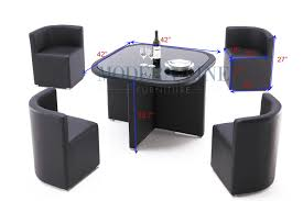 Table With Hidden Chairs Modern Line Furniture Commercial Furniture Custom Made