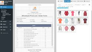 Sample Of Order Form Template Product Order Forms Easily Create Order Forms Catalogs With