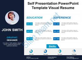 Self Presentation Powerpoint Template Visual Resume PowerPoint Custom Resume Powerpoint